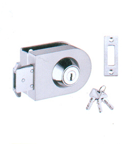 PGL-427(12mm GLASS)  SINGLE GLASS LOCK       ONE SIDE KEY (SS-201)
