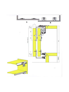 PSR-638 (2 PCS SOFT-CLOSING SLIDE DOOR SYSTEM.FOR 2 DOORS)